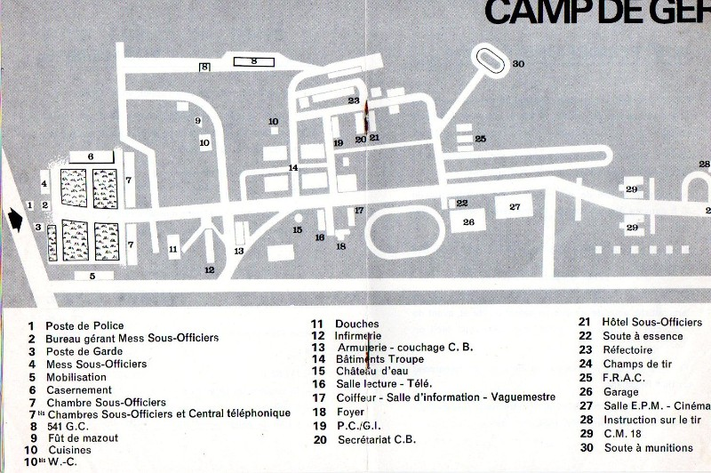 plan du camp de Ger